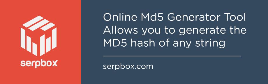 Online Md5 Generator Tool