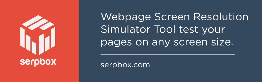 Webpage Screen Resolution Simulator Tool